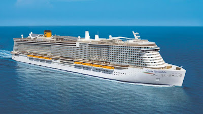 Artists Rendering Of Costa Cruises' New Costa Smeralda - Part of a Costa Expansion Program