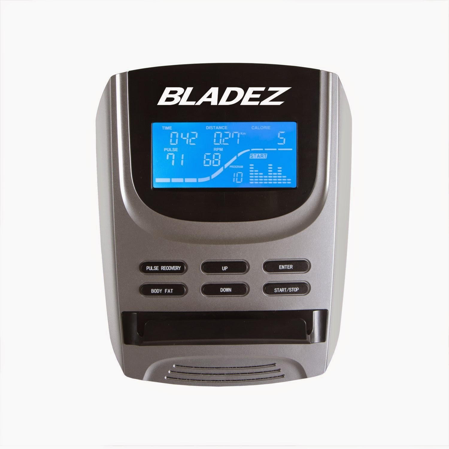 Bladez Fitness R300 blue backlit LCD display