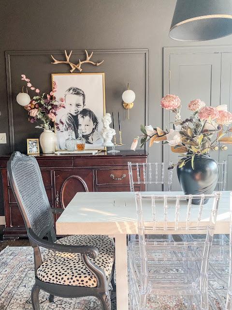 Moody dining room decor