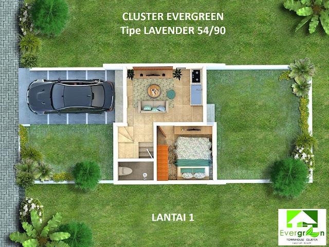 Perumahan cluster Evergreen Cileungsi Jawa Barat