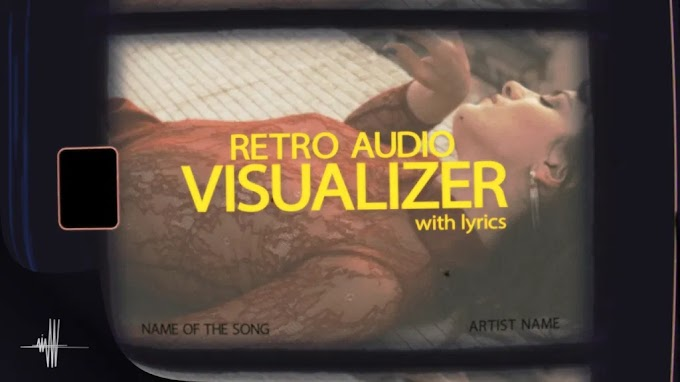 Retro Audio Visualizer With Lyrics for After Effects