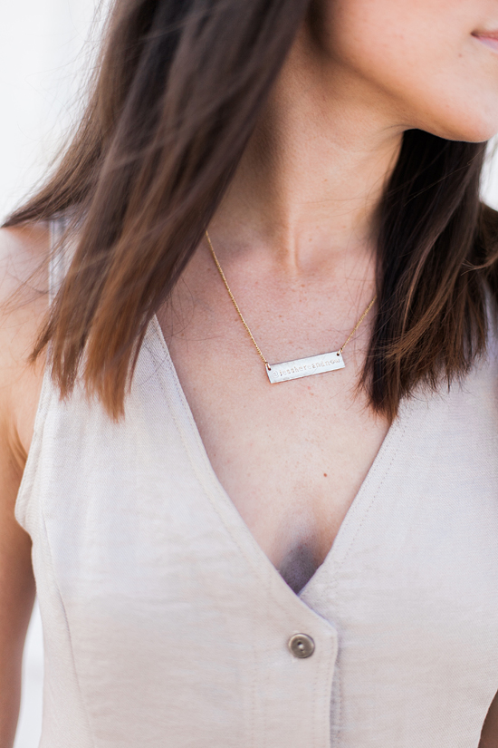 Here&Now: name plate necklace