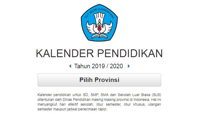 update terbaru kalender pendidikan 2019/2020