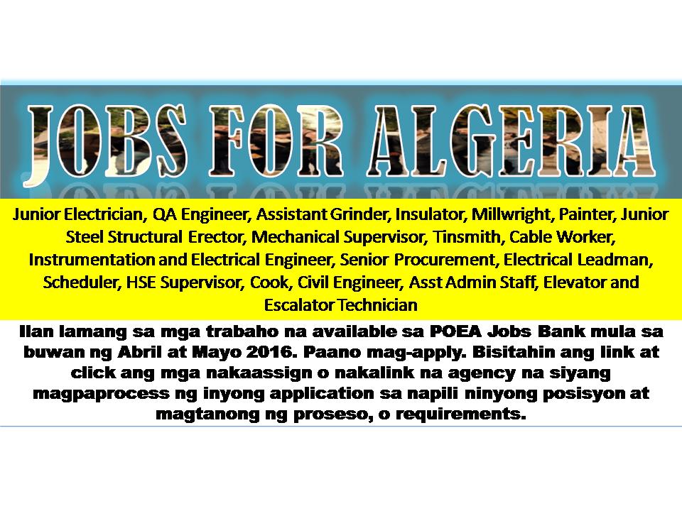 Algeria Jobs Images - Reverse Search