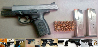 (Top to Bottom - Left to Right) Guns Discovered at BNA, ATL, DAL, DFW, ATL, MIA, TPA, SAT
