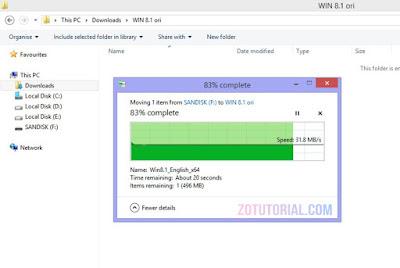 Speed Test FlashDisk Sandisk Ultra Dual Drive m3.0 OTG