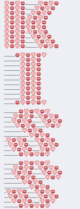 Love Text Art : Konkurentas, Vertikalus, Yenanchen.com