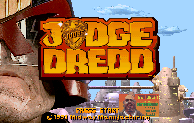 Judge Dredd arcade title screen