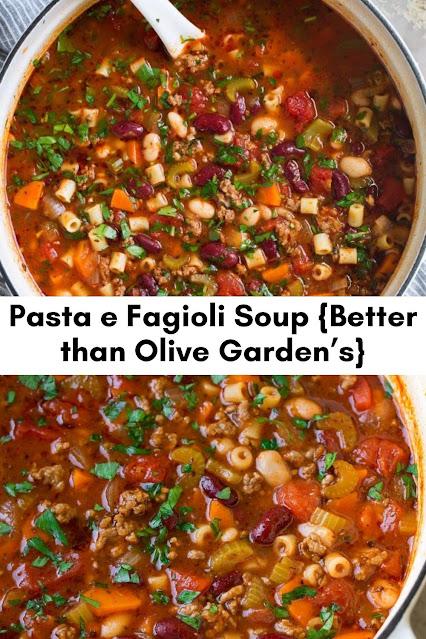 Pasta e Fagioli Soup {Better than Olive Garden's}