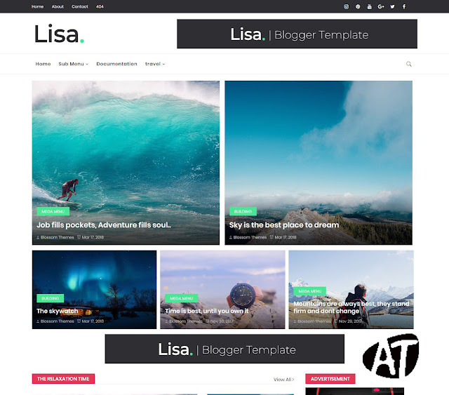 Lisa Blogger Template