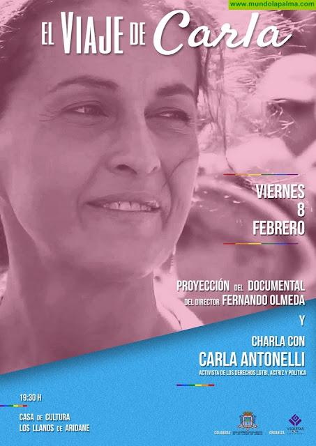 La diputada y activista transexual Carla Antonelli visita Los Llanos de Aridane este viernes 8 de febrero