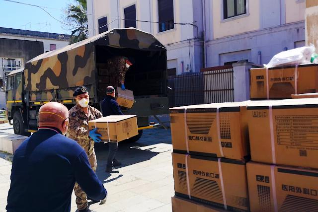 """SICILIA. I reparti della Brigata """"Aosta"""" movimentano 8 tonnellate di materiali per esigenze sanitarie"""