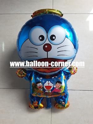 Balon Foil Karakter Doraemon Metalik (Ukuran Besar)