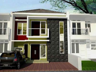 Rumah Campuran Estetik Batu