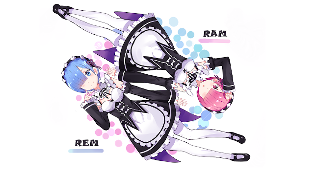 wallpaper ram and rem re zero