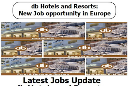 db Hotels and Resorts: New Job opportunity in Europe 2021