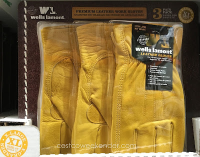 Protect your hands while at work with the Wells Lamont Premium Leather Work Gloves