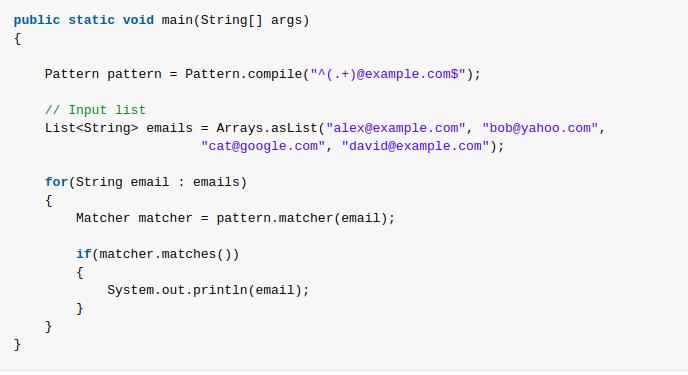 Java Using Regexes In Java Test For A Pattern Web Development