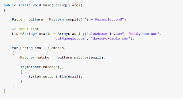 Java Using Regexes In Java Test For A Pattern Web Development And Gorgeous Java Pattern Compile
