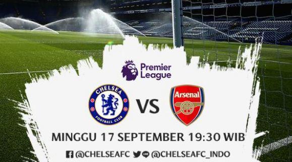 Susunan Pemain Chelsea vs Arsenal - Liga Inggris Minggu 17/9/2017 #CHEARS