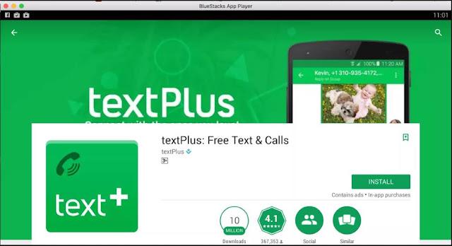 تطبيق TextPlus للحصول على ارقام امريكية مجانا