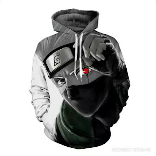 Sweatshirt Naruto Kaka West Anime Jacket With Hat