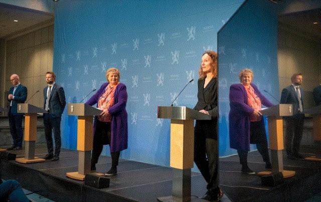 La Norvegia inventa l'applicazione del coronavirus, PM alla conferenza stampa: identifica e traccia dei infetti