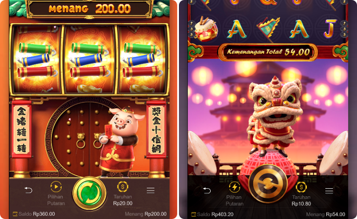 Interface Game Slot Online