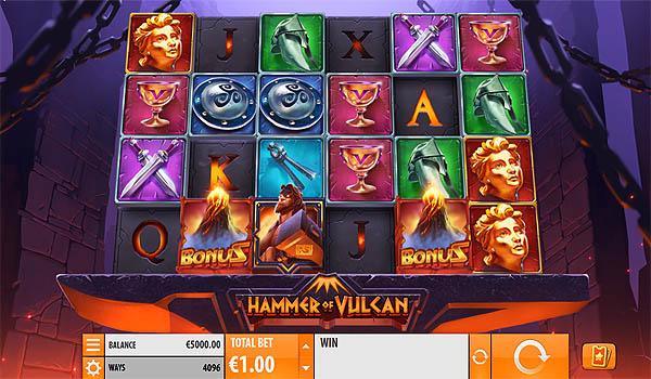 Main Slot Gratis Indonesia - Hammer of Vulcan (Quickspin)