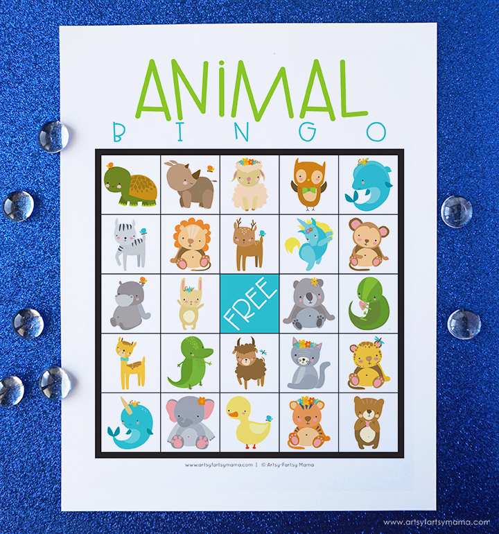 Free Printable Animal Bingo