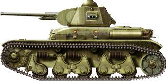 ReRenault R-35 libanés rearmado con el cañón británico de 2 pdr (40 mm