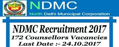 NDMC Recruitment 2017 - 172 Vacancies for Counsellors
