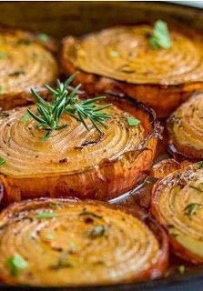marinated slow roasted onions