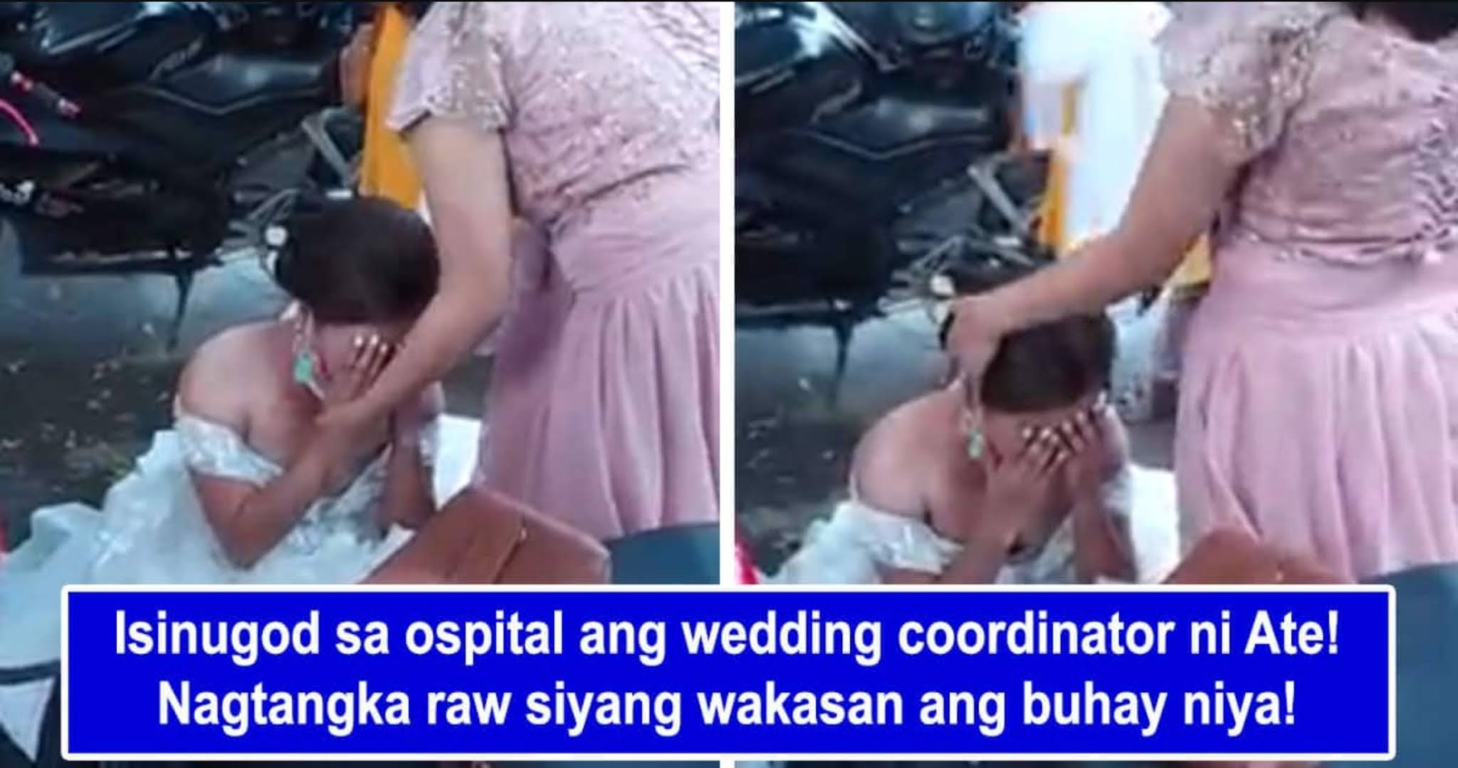 Wedding coordinator ng bride na humagulgol sa labas ng reception area, isinugod sa ospital