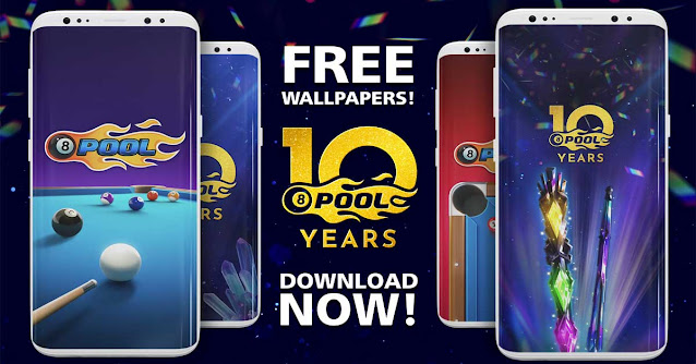 Free Wallpapers 10 Years of 8 Ball Pool