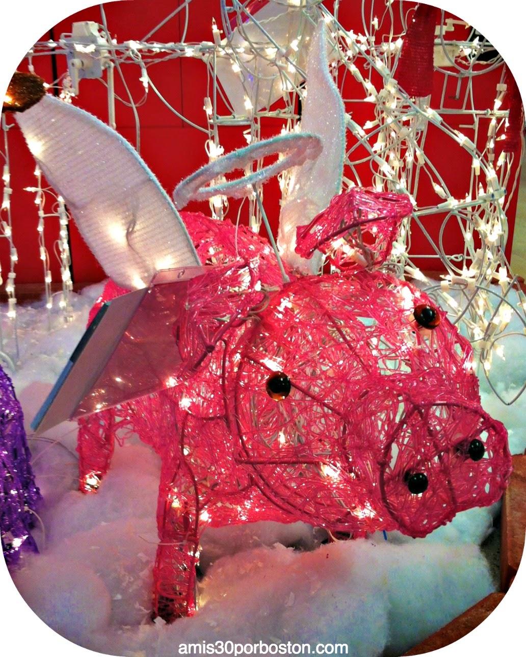 Cerdito Rosa Decoraciones Navidad
