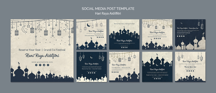 Hari Raya Aldilfitri Social Media Post