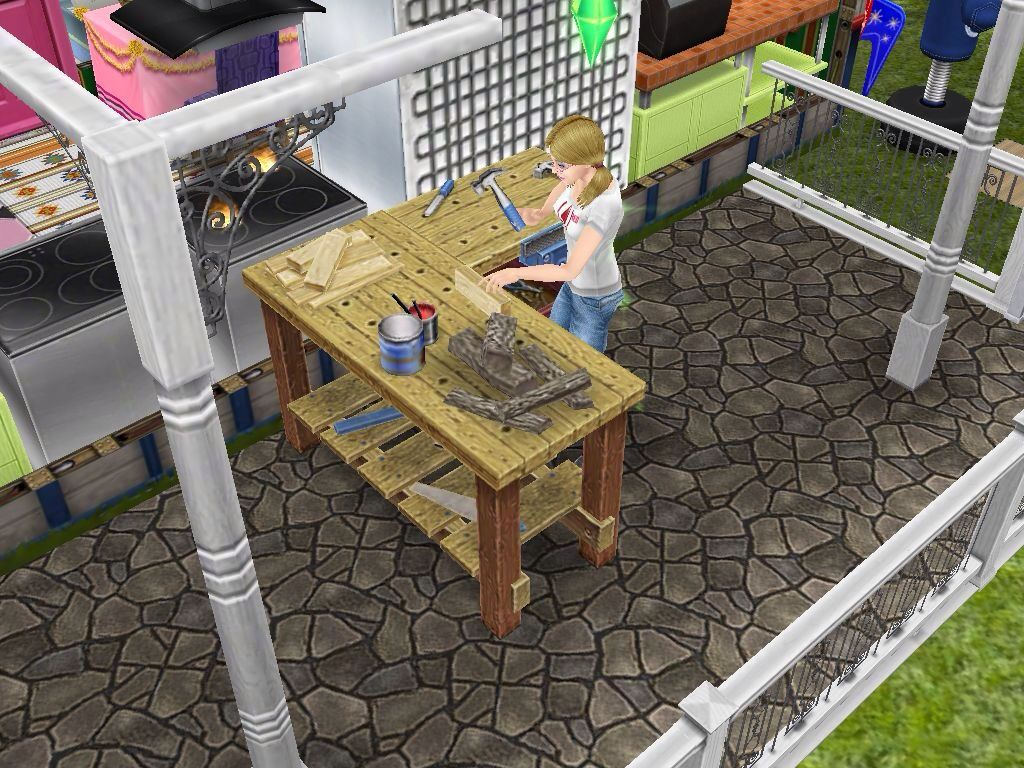 how to use a neighbors woodworking bench sims freeplay