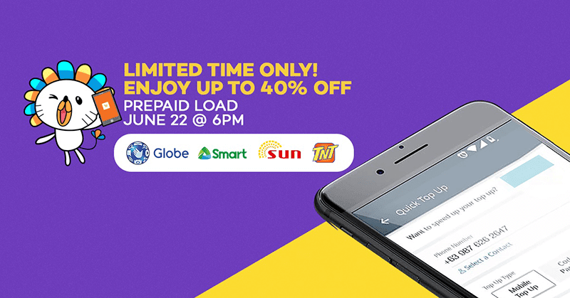 Prepaid Load For Smart, Sun, And Globe On 40% Off At LazadaSale Alert: Prepaid Load For Smart, Sun, And Globe On 40% Off At Lazada