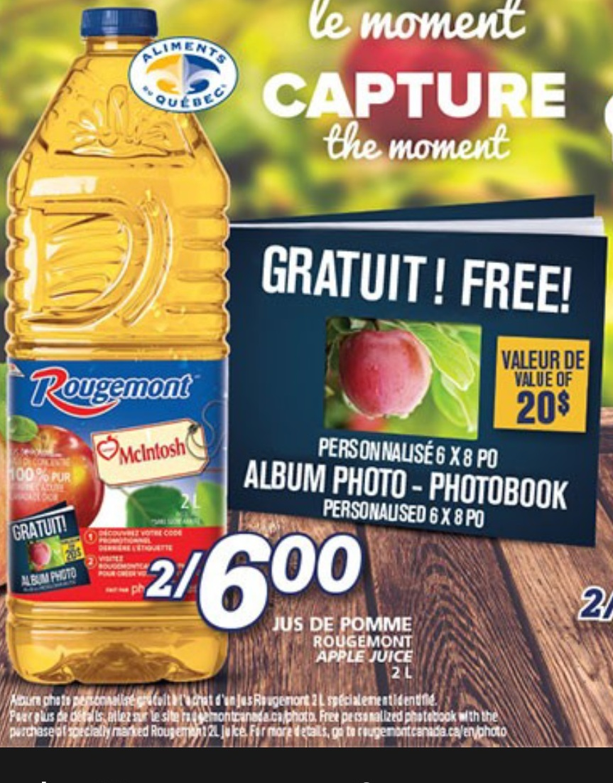 Rougemont apple juice coupons free