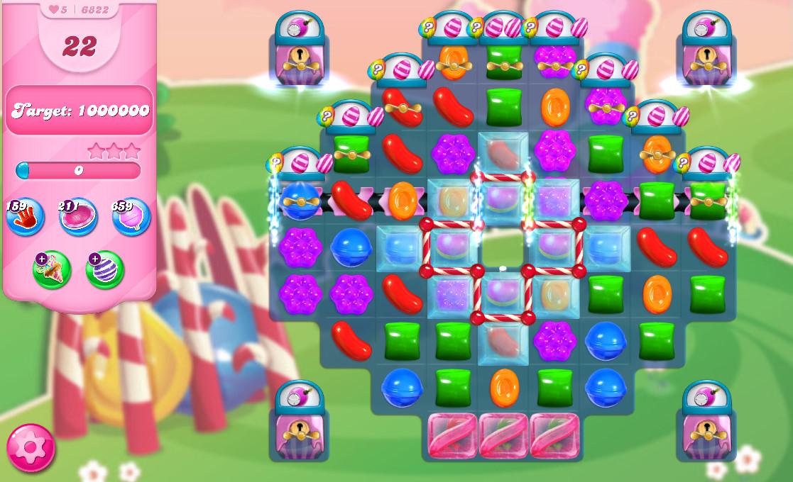 Candy Crush Saga level 6822