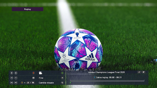 Champions League Final 2020 Ball For PES 2020 and PES 2019