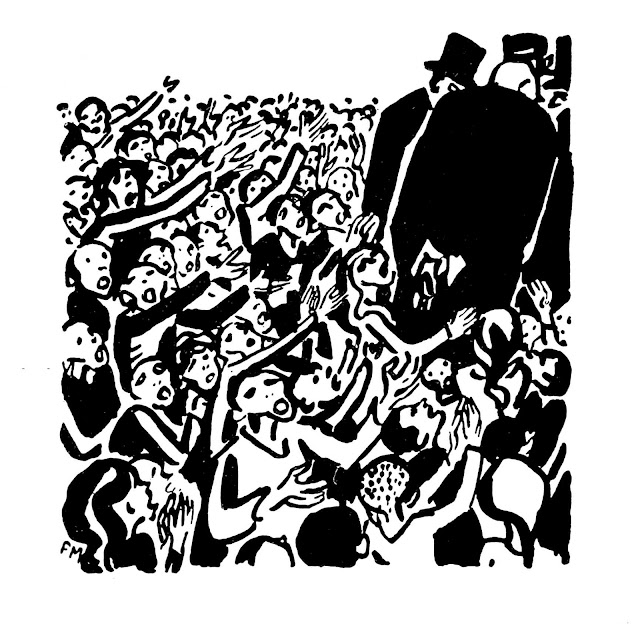 Frans Masereel, war politicians ignoring pleading civilians