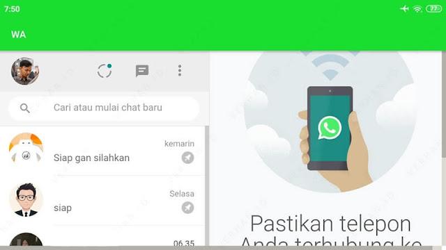 whatsapp web di hp tampilan horizontal
