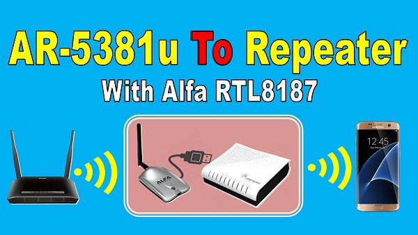 comtrend ar-5381u repeater with alfa RTL-8187