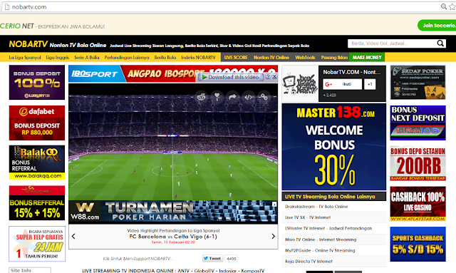 Cara Streaming Bola Di Internet Live