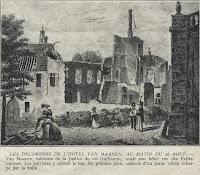 Tot puin herleide verblijf van justitieminister Cornelius Felix Van Maanen op 26 augustus 1830