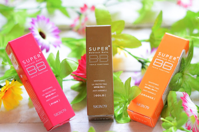 Orange, gold, pink bb cream