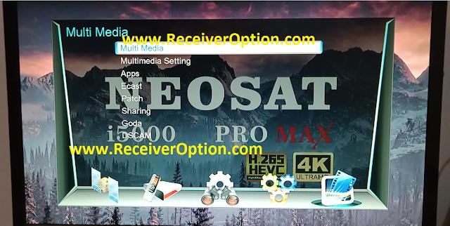 NEOSAT i5000 PRO MAX SIM TYPE 1506LV 1G 8M NEW SOFTWARE WITH DOLBY SOUND OK