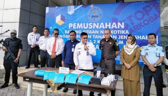BNNP Banten Musnahkan Sabu Senilai Rp7,5 Miliar